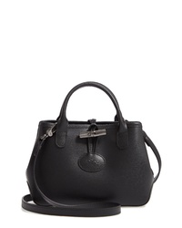 Longchamp Mini Roseau Leather Crossbody Bag