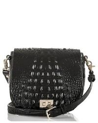 Brahmin Mini Sonny Leather Crossbody Bag Black