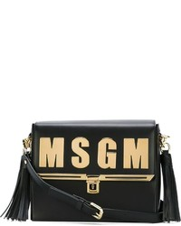 MSGM Logo Plaque Crossbody Bag