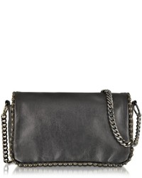 Pinko Neutrone Black Leather Crossbody Bag