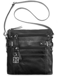 Giani Bernini Pebble Leather Multi Zip Pocket Crossbody Only At Macys