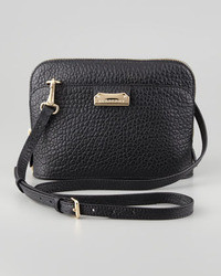 Burberry Pebbled Leather Crossbody Bag Black