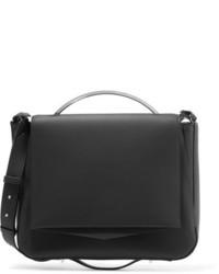 Eddie Borgo Pepper Saddle Matte Leather Shoulder Bag Black
