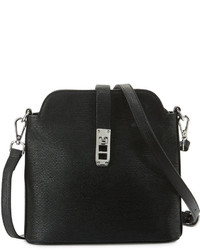 Charles Jourdan Phoebe Leather Crossbody Bag Black