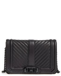 Rebecca Minkoff Small Love Leather Crossbody Bag White