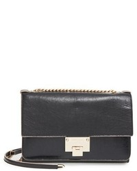 Jimmy Choo Rebel Crinkled Leather Shoulder Bag Black