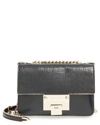 Jimmy Choo Rebel Mini Leather Shoulder Bag Black