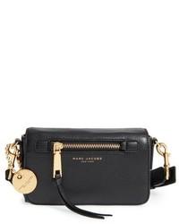 Marc Jacobs Recruit Leather Crossbody Bag Grey