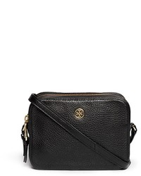 Tory Burch Robinson Double Zip Leather Crossbody Bag