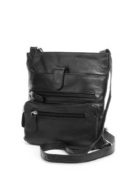 Rr Leather Zipper Leather Crossbody Bag