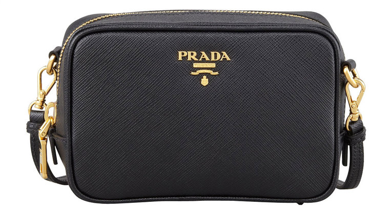 54ae08b0fb4a ... discount leather crossbody bags prada saffiano mini zip crossbody bag  black 31ea0 a50b3