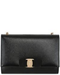 Salvatore Ferragamo Bow Saffiano Leather Shoulder Bag