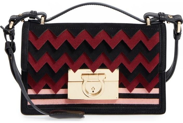 38108dca2664 ... Salvatore Ferragamo Small Aileen Leather Shoulder Bag Red ...