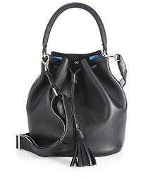 Anya Hindmarch Small Crossbody Leather Bucket Bag