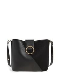 Topshop Spark Piece Faux Leather Hobo Bag