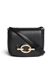 Diane von Furstenberg Sutra Caf Mini Deergrain Leather Shoulder Bag