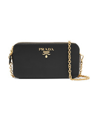 Prada Textured Leather Shoulder Bag
