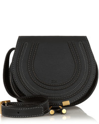 Chloé The Marcie Mini Textured Leather Shoulder Bag Black