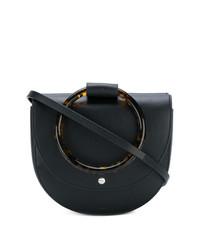 Theory Tortoiseshell Handle Shoulder Bag