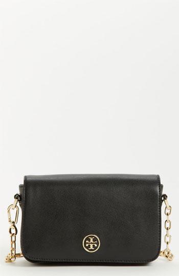 82c87fb215f5 ... Tory Burch Robinson Mini Saffiano Leather Crossbody Bag Black