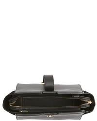 Saint Laurent Toy Cabas Leather Crossbody Bag Black
