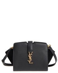 Saint Laurent Toy Cabas Leather Crossbody Bag Black