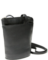 Royce Leather Vaquetta Petite L Zip Crossbody Bag