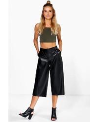 Boohoo Caralia Faux Leather Culottes