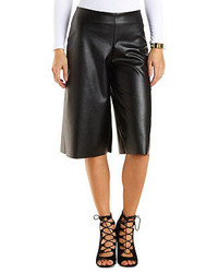 Charlotte Russe Faux Leather Culottes