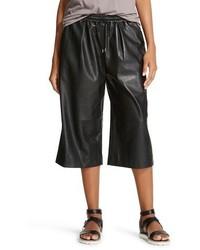 Faux Leather Culottes Black K By Kersh