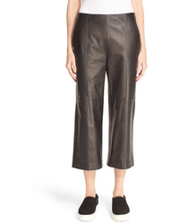 Vince Seamed Leather Culottes