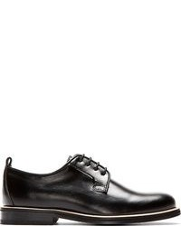 Carven Black Classic Leather Derbys