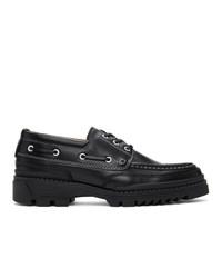 AMI Alexandre Mattiussi Black Leather Derbys
