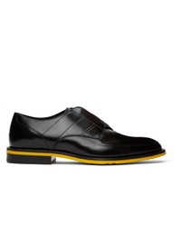 Fendi Black Leather Slip On Derbys