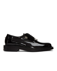 Neil Barrett Black Patent Pierced Punk Derbys
