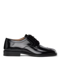 Maison Margiela Black Tabi Lace Up Loafers