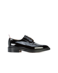 Thom Browne Classic Blucher In Black Patent Leather