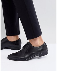Pier One Derby Shoes In Black Leather