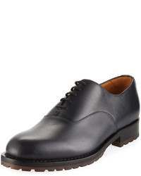 Valentino Derby Smooth Lace Up Oxford Black
