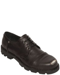 Diesel Steel Toe Smooth Leather Derby Shoes