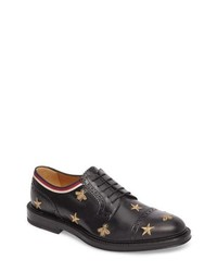Gucci Embroidered Leather Brogue Shoe