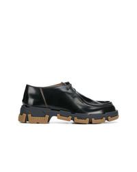 48255dd1ec0 Men s Black Leather Derby Shoes by Lanvin