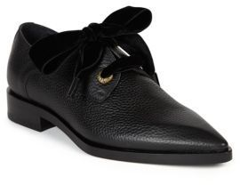 Lanvin Grainy Leather Eyelet Derby Shoes