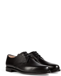 Ludwig Reiter Leather Derbies In Boxcalf Black