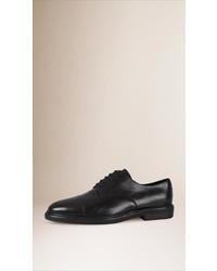 Burberry Shearling Lined Leather Derby Shoes