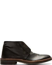 Maison Martin Margiela Black Leather Desert Boots