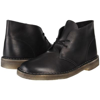 a30cdf919381 ... Clarks Desert Boot Lace Up Boots Black Soft Leather