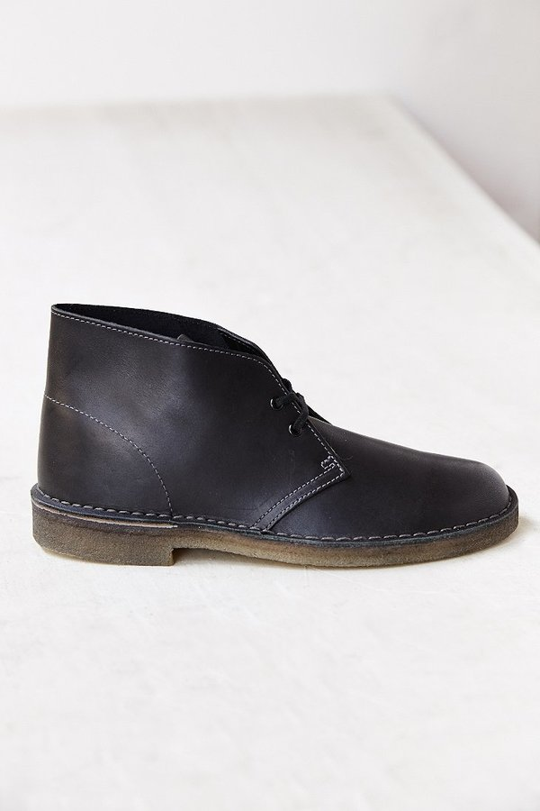 black leather desert boots clarks leather desert boot