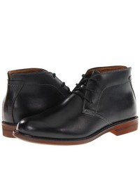 Florsheim Doon Chukka Lace Up Boots Black Smooth Leather