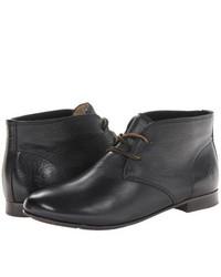Black Leather Desert Boots for Women | Women's Fashion